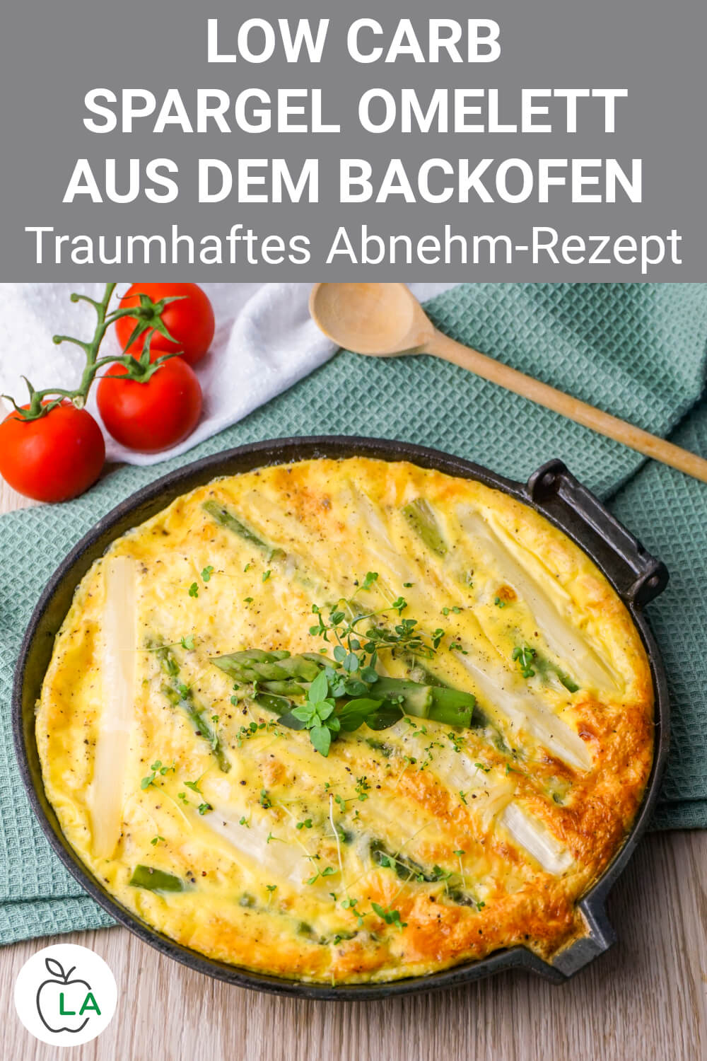 Low Carb Spargel Omelett