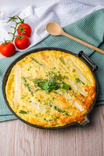 Spargel Omelett aus dem Ofen