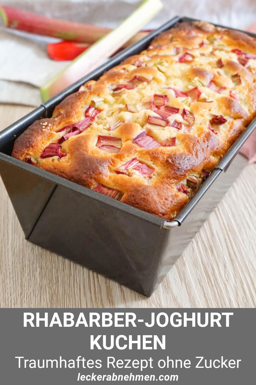 Zuckerfreier und gesunder Rhabarberkuchen