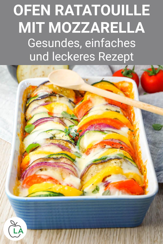 Ofen Ratatouille mit Mozzarella
