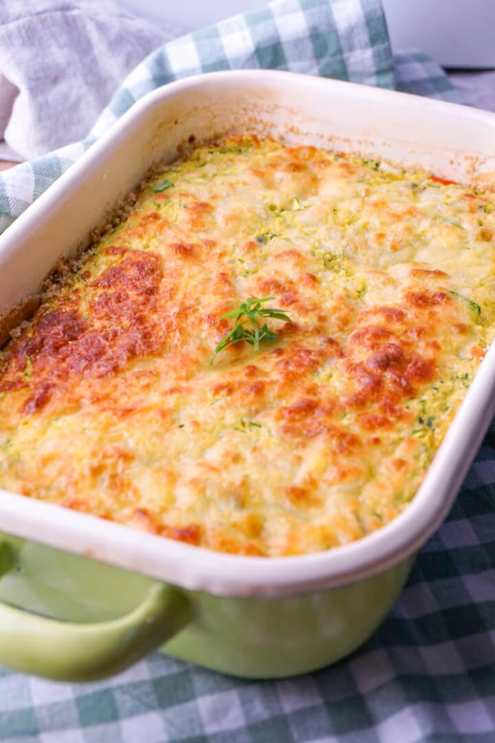 Zucchini Auflauf vegetarisch zubereiten