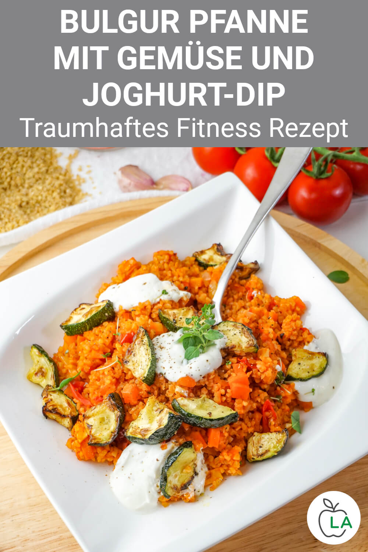 Bulgurpfanne mit Gemüse und Dip