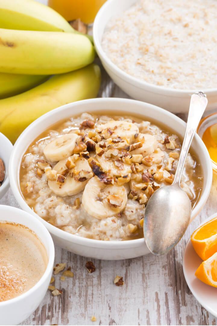 Bananenbrot Porridge Rezept