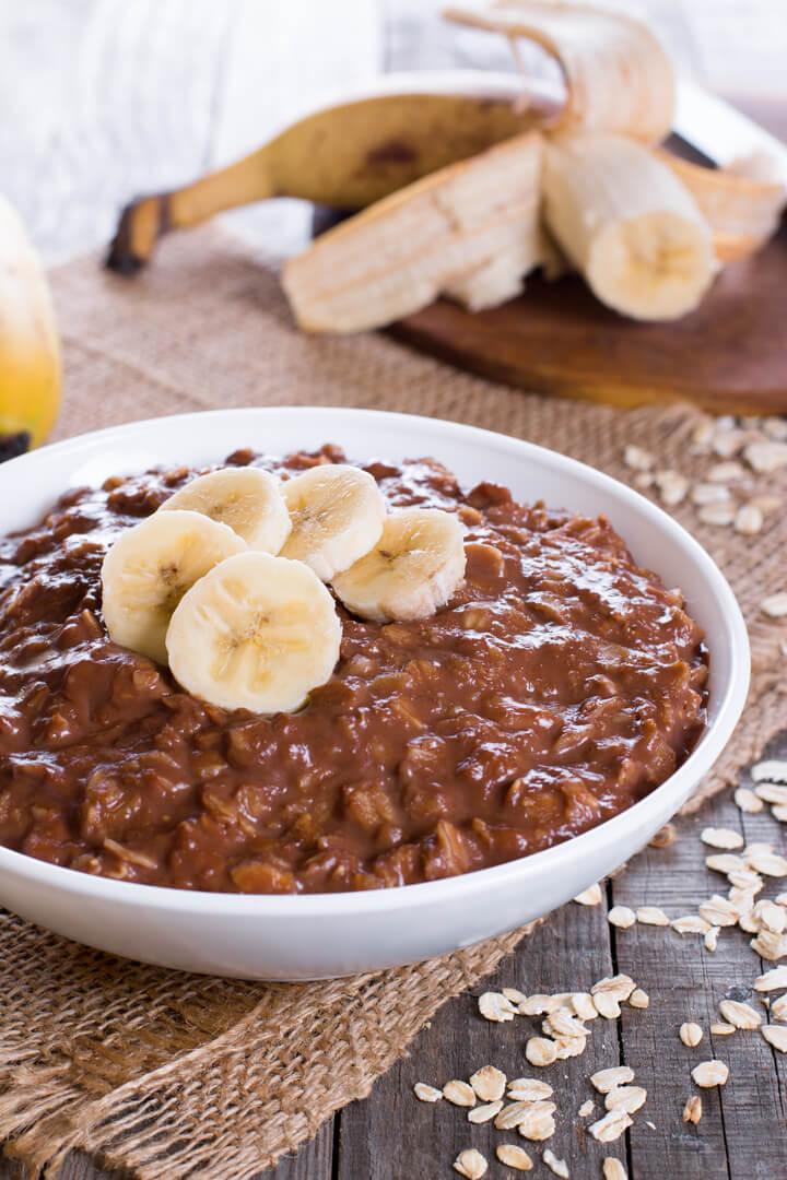 Schoko Banane Porridge Rezept