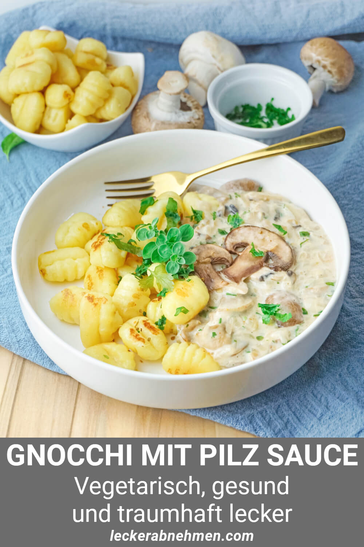 Gnocchi mit leichter Pilz-Sahne-Sauce