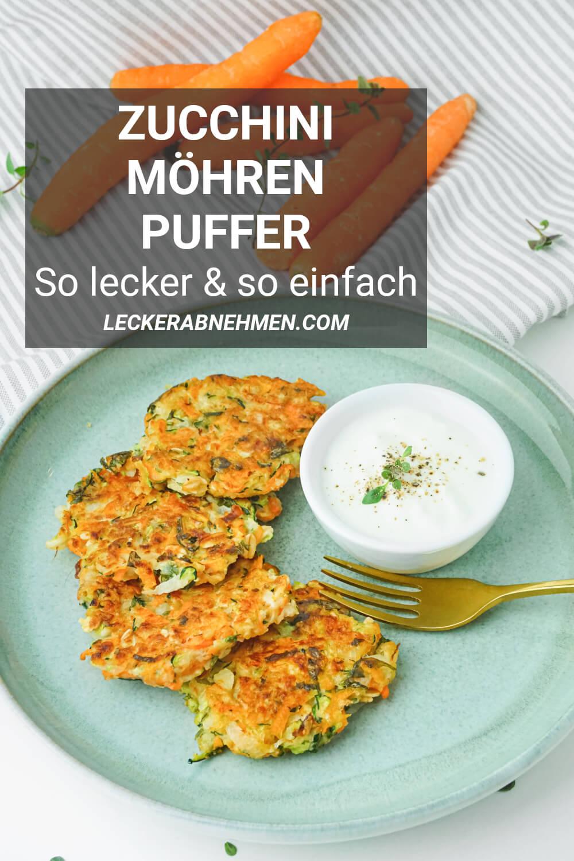 Zucchini Möhren Puffer