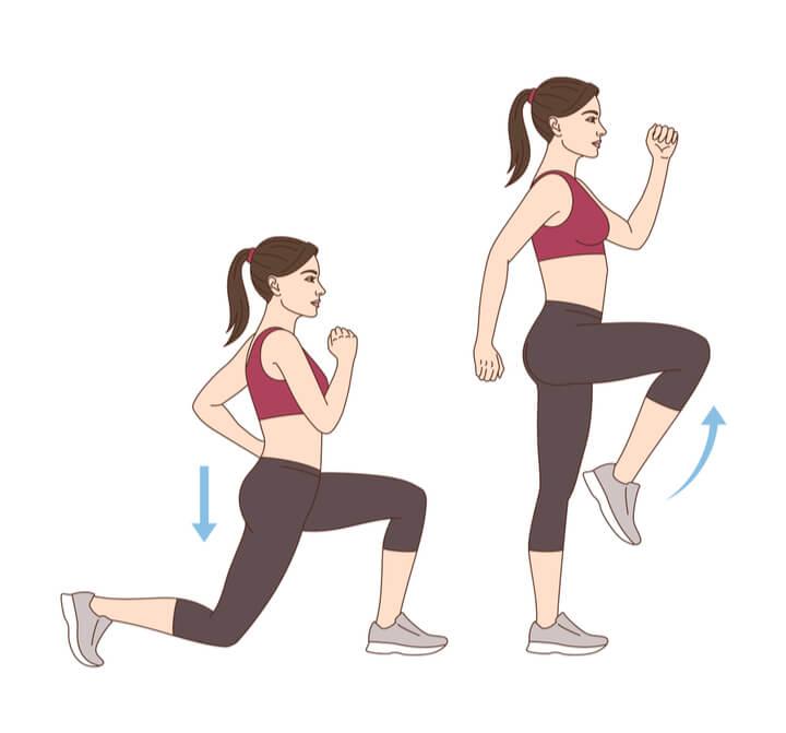 Ausfallschritte fürs Morgen Workout
