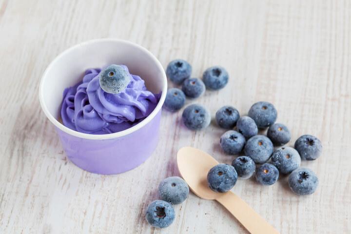 Blaubeer Frozen Joghurt als Snack zum Abnehmen