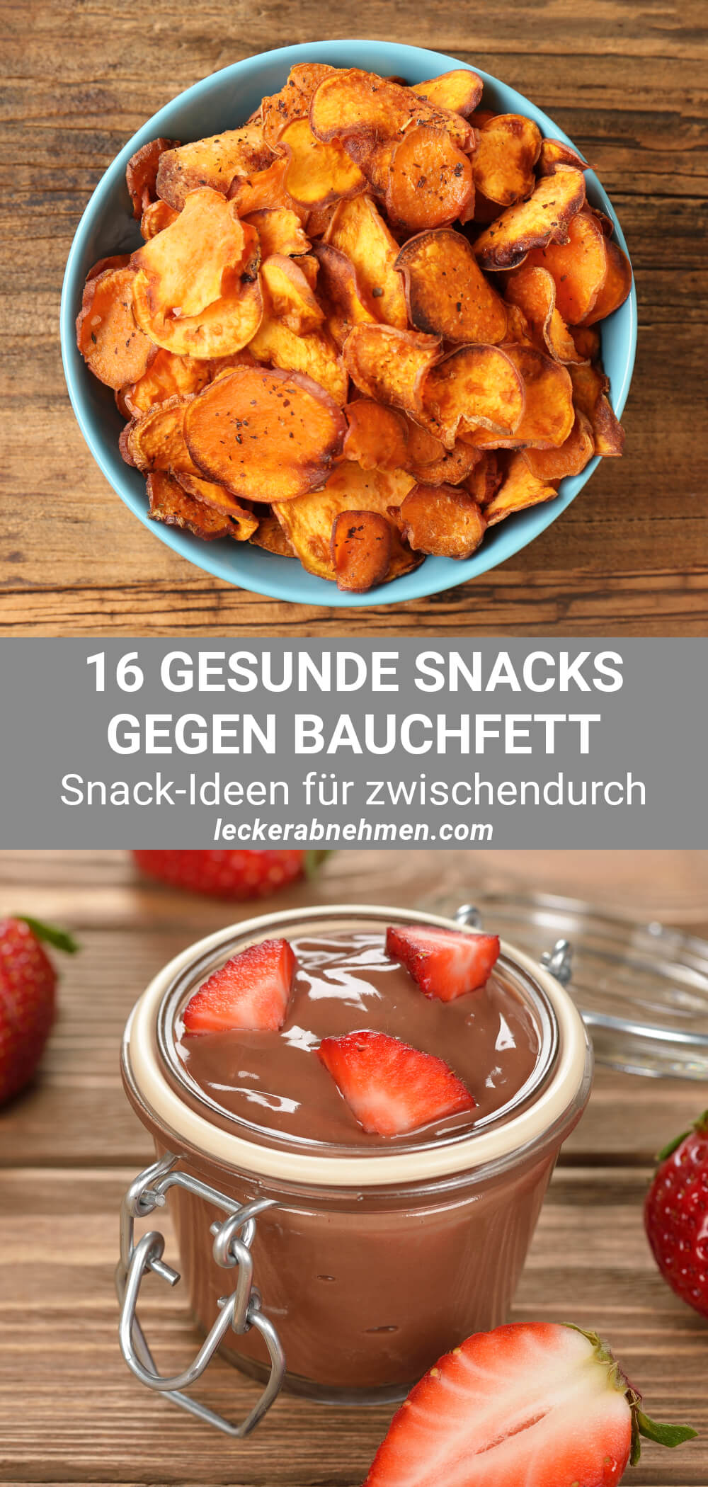 Gesunde Snacks gegen Bauchfett
