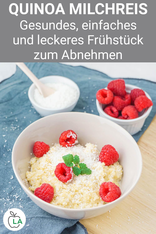 Quinoa Milchreis als gesundes Frühstück zum Abnehmen