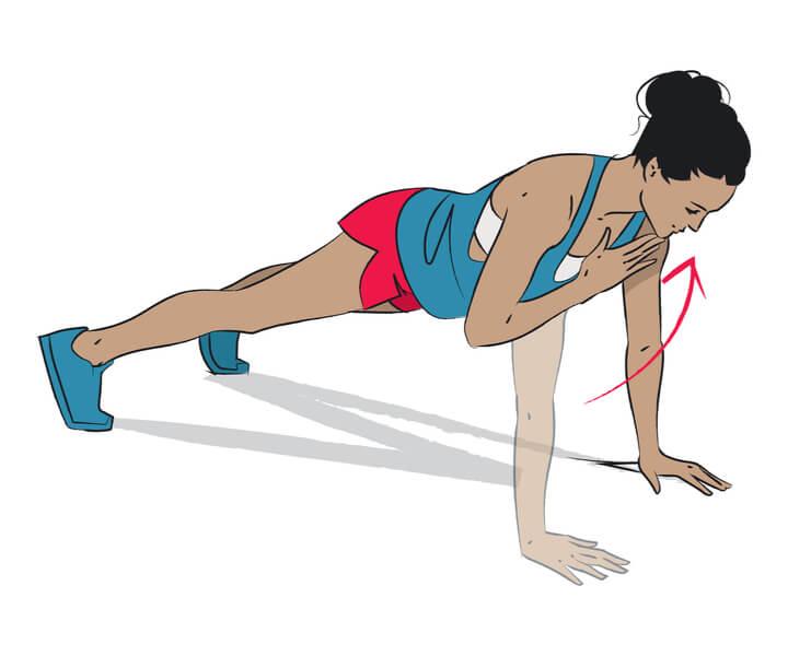 Shoulder Taps im morgendlichen Workout