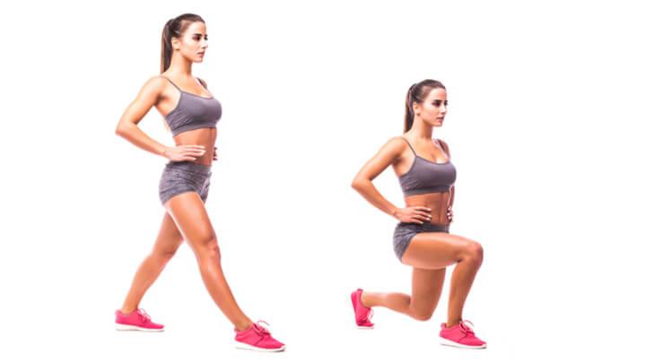 Ausfallschritte für Beine und Po
