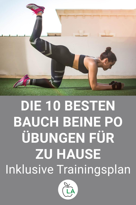 Frau macht Bauch Beine Po Übungen
