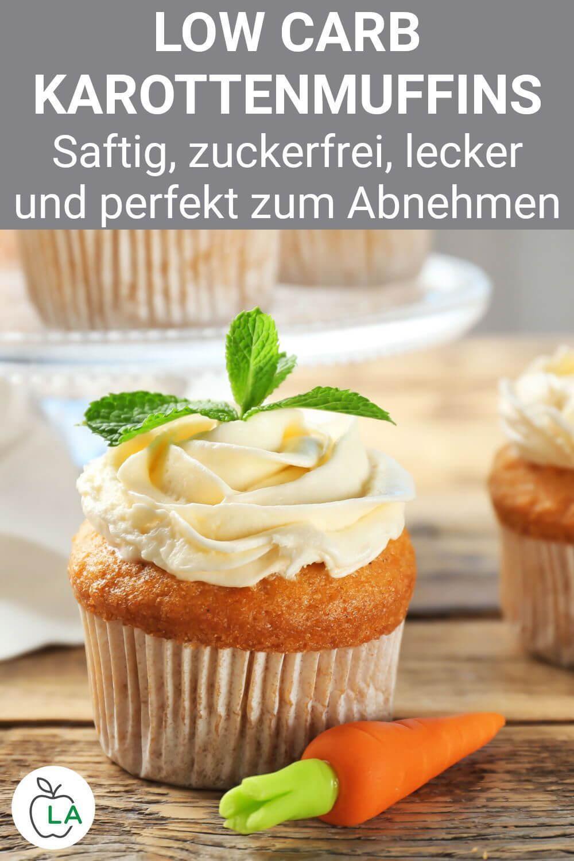 Glutenfreie Low Carb Möhren Muffins