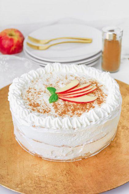 Apfel Zimt Torte ohne Zucker