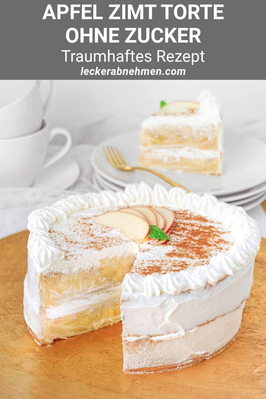 Rezept für Apfel Zimt Torte