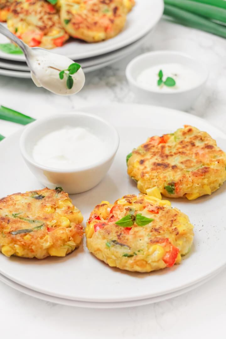 Gemüsebratlinge vegan zubereitet