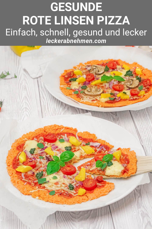Rote Linsen Pizzaboden aus Mehl